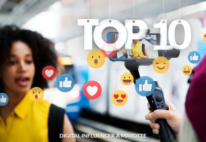 Top 10 des influenceurs à Mayotte